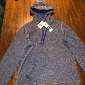 Adidas hoodie sweatshirt in blue